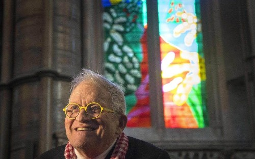 Imagine: Hockney, the Queen and the Royal Peculiar, review: an elegiac documentary on the window David Hockney designed on an iPad