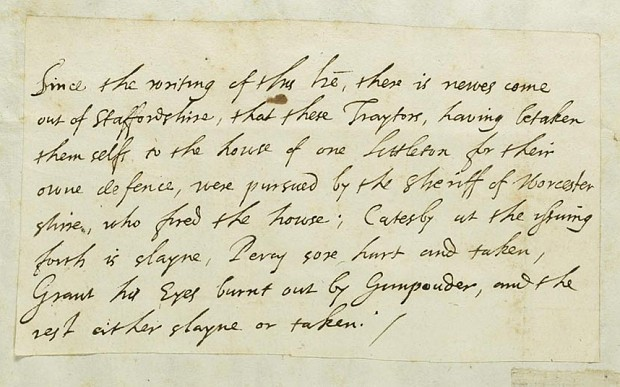 First report of Gunpowder Plot to be auctioned