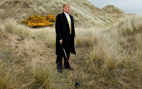 Hillary Clinton takes a swing at Donald Trump over time spent on the golf course