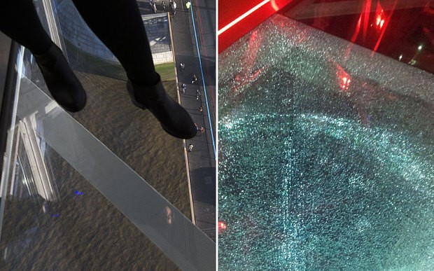 Tower Bridge glass walkway shatters after visitor drops a beer bottle on it