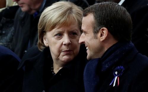 Angela Merkel and Emmanuel Macron unite amid Brexit chaos