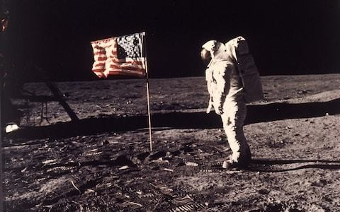 Neil Armstrong and Buzz Aldrin 'planted a British flag on the moon'