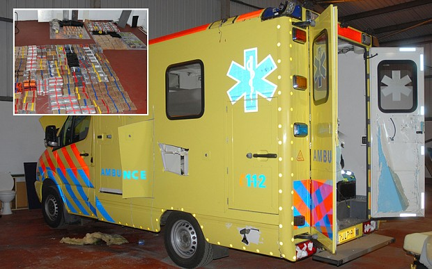 Fake Dutch ambulances smuggle up to £1.6 billion of cocaine and heroin