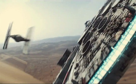 Star Wars: see the Millennium Falcon being made ... in Wales