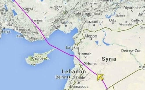 MH17: Malaysia Airlines flies over Syria instead of Ukraine