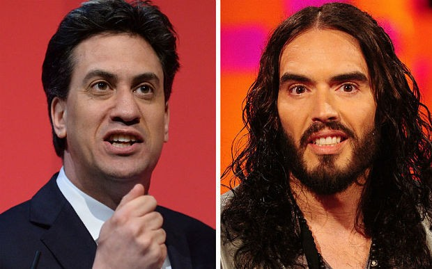 """Russell Brand hits back after David Cameron labels comic's secret meeting with Ed Miliband """"a joke"""""""