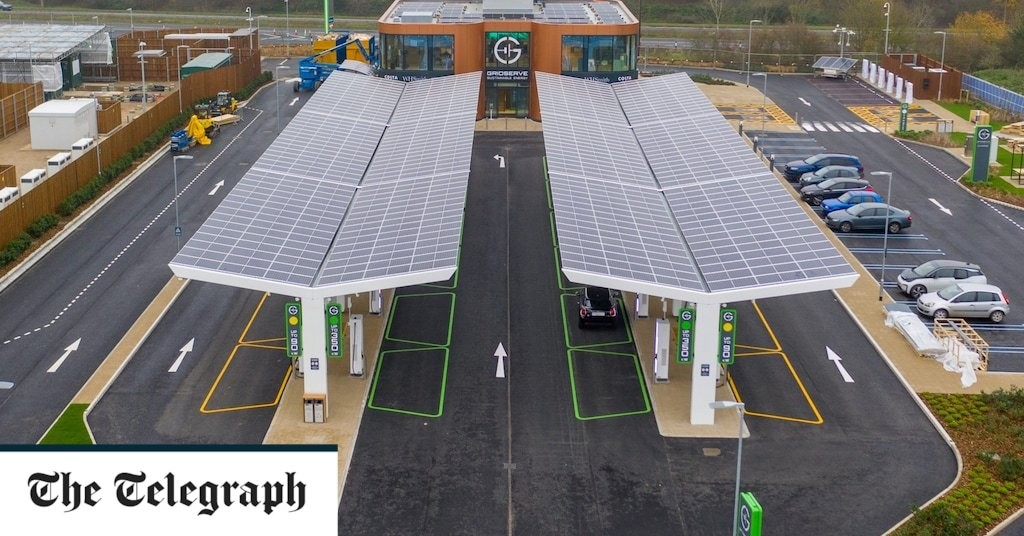 Britain's first electric forecourt charged and ready
