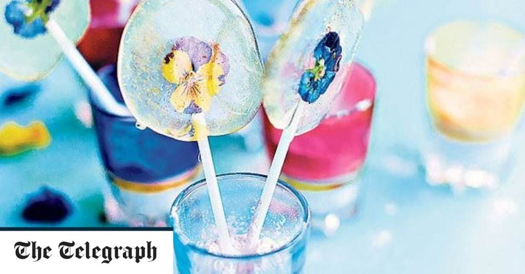 Edible flower lollipops recipe