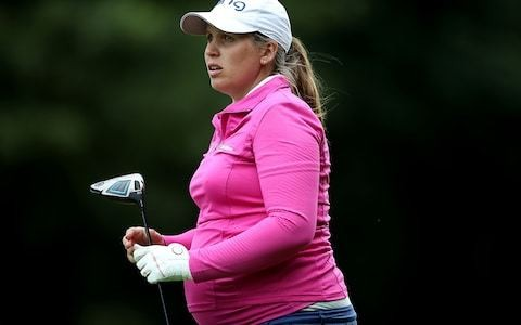 Seven months pregnant and with her husband as caddie - Liz Young defies convention at the British Open