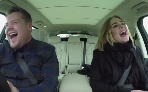 Adele belts out hits with James Corden in Carpool Karaoke - and even rapped Nicki Minaj