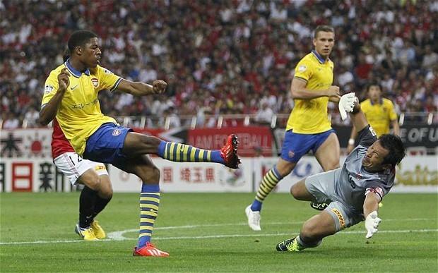 Arsenal finish Asia tour with perfect record as Chuba Akpom seals 2-1 win over Urawa Red Diamonds