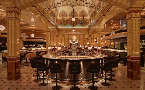 Inside the revival of an Art Deco gem - the new Harrods Dining Hall, with 1,000 wines and food galore