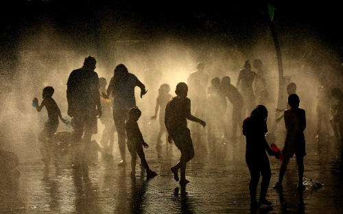 UK weather and European heatwave brought on by the Sahara bubble, in pictures