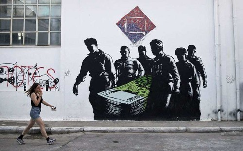 Want to know what Greeks really think about the crisis? Check out the graffiti - Telegraph