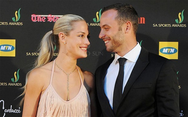 Oscar Pistorius sends out Valentine's Day message of regret over dead girlfriend