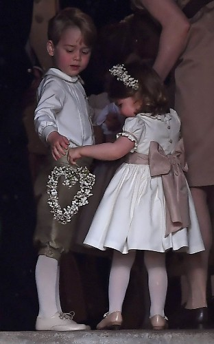Royal inspiration: You can already buy the bridesmaid and pageboy looks worn by Prince George and Princess Charlotte to Pippa Middleton's wedding