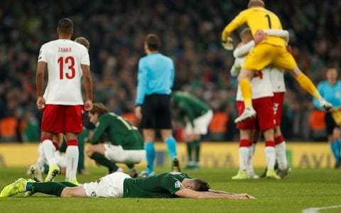 Despair for Ireland as they miss out on automatic Euro 2020 spot after draw with Denmark