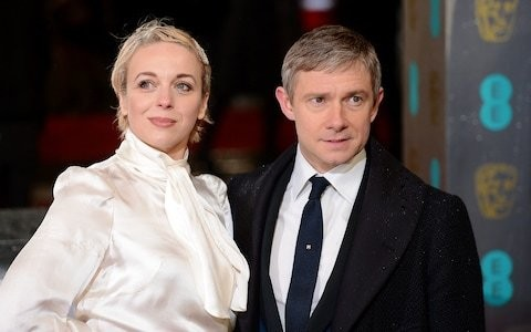 Martin Freeman says filming Sherlock with his ex-partner Amanda Abbington 'wasn't that much fun'
