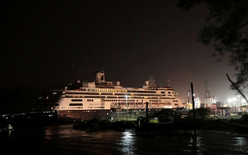 Cruise firm pleads for ship hit by coronavirus to be allowed to dock in Florida