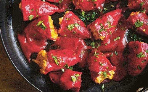 Spanish peppers stuffed with cod