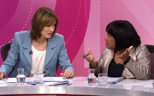 Fiona Bruce 'bullied by hard-Left' as Labour supporters demand BBC release Diane Abbott footage
