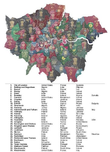 This map perfectly displays the diversity of London
