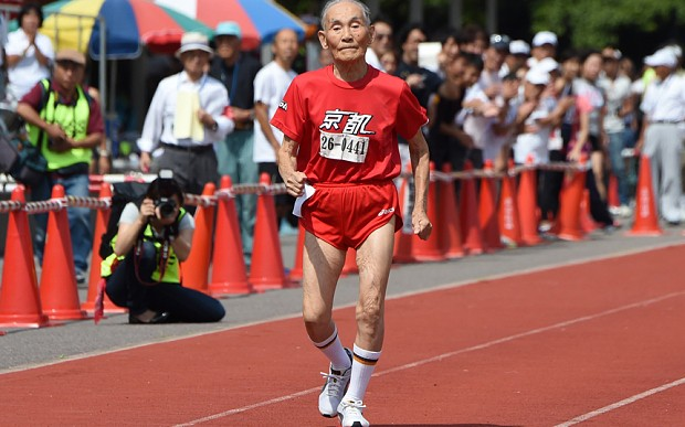 Japan's 105-year-old 'Golden Bolt' sets world record for 100m