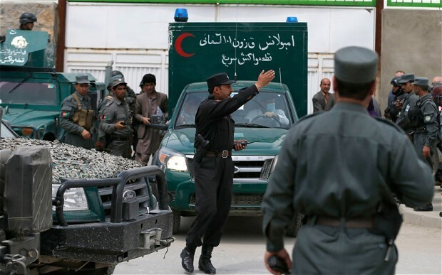 Afghan guard shoots dead three foreigners at hospital