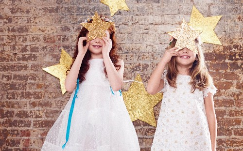 Kids fashion: planets and stars for mini party-goers