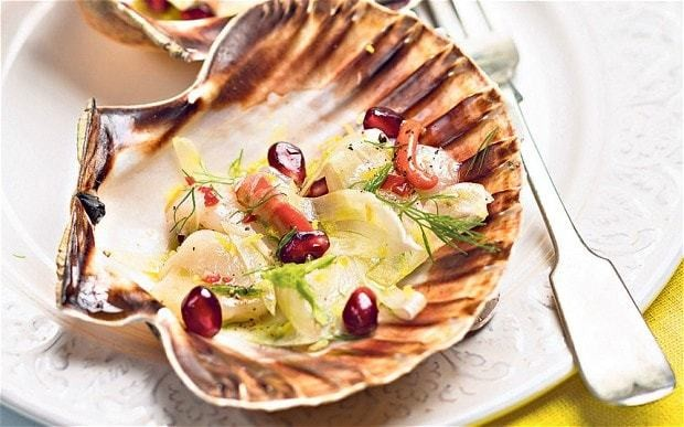 New Year's Eve: scallop carpaccio with fennel recipe