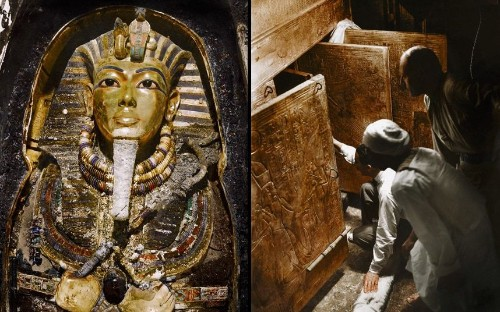 The Discovery of King Tut's tomb: Colourised photos exhibited in New York - Telegraph