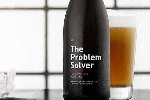 Reach the perfect creativity level -- with one bottle of this beer