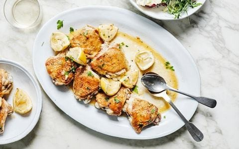 Roast chicken thighs with lemon recipe