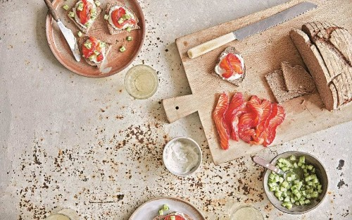 Three cured salmon recipes for the perfect make-ahead party food