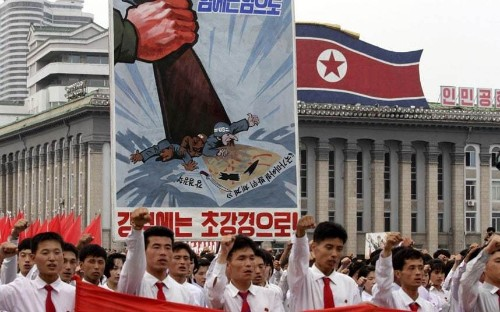 North Korea: Anti-US imperialism rally in Kim Il-sung Square in Pyongyang - Telegraph