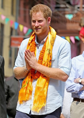 Prince Harry welcomed to Nepal by five virgins in luck and purity ceremony