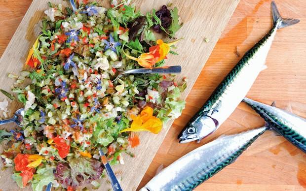 Ceviche of line-caught Cornish mackerel recipe
