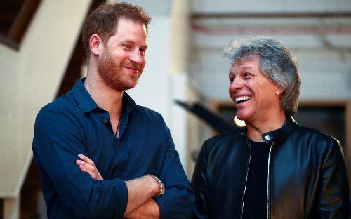 Prince Harry joins Bon Jovi in the recording booth for new charity song