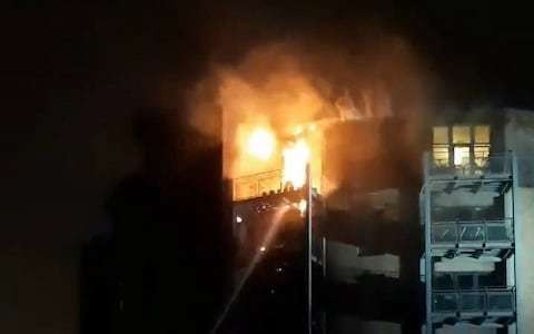Clapton fire: Major blaze engulfs block of flats in east London