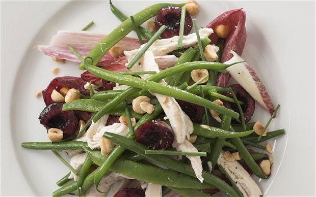 Speedy weeknight suppers: two bean, chicken, cherry and nut salad