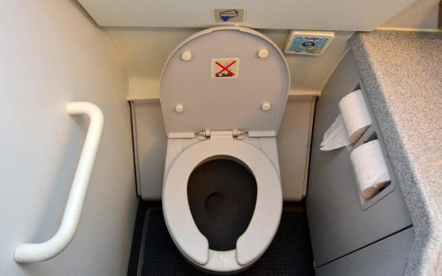 The dirtiest part of plane? It's right in front of you
