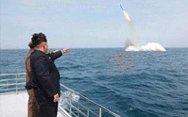 North Korea test-fires underwater ballistic missile