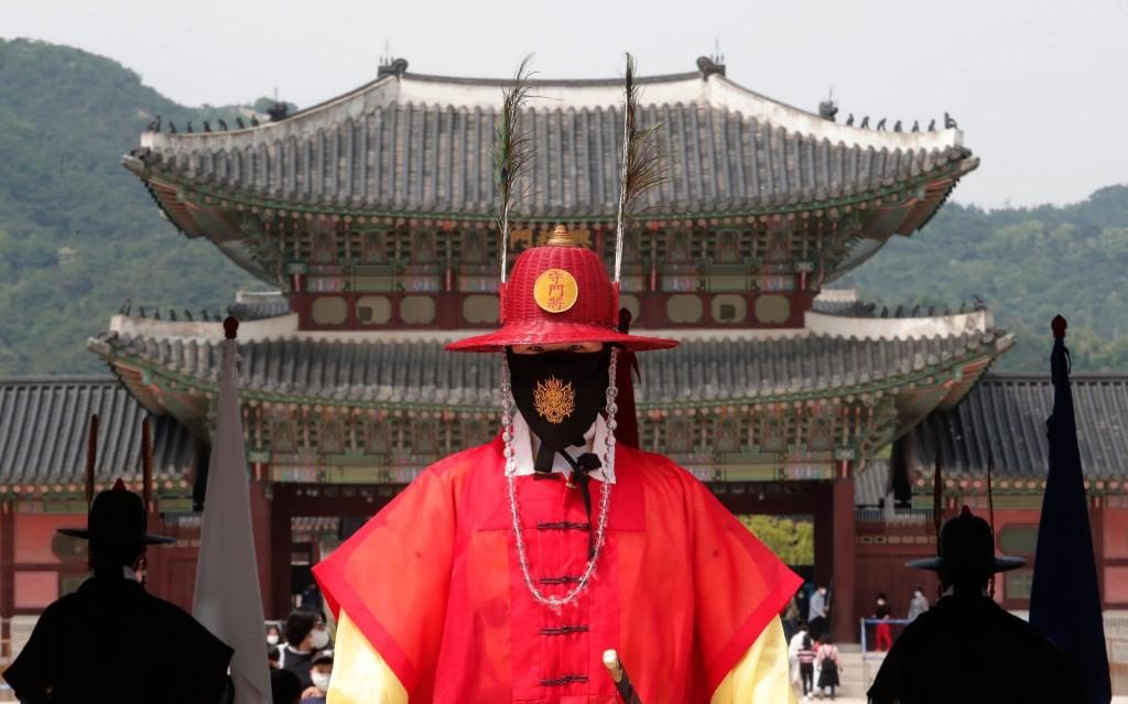 South Korean town thanks Gloucester war veterans with face masks