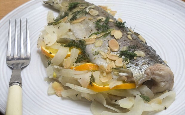 Speedy weeknight suppers: trout with fennel, almond and orange