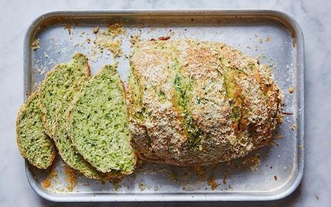 Spinach and parsley soda bread recipe