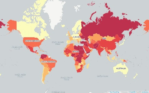 Mapped: What are the most peaceful countries in the world?