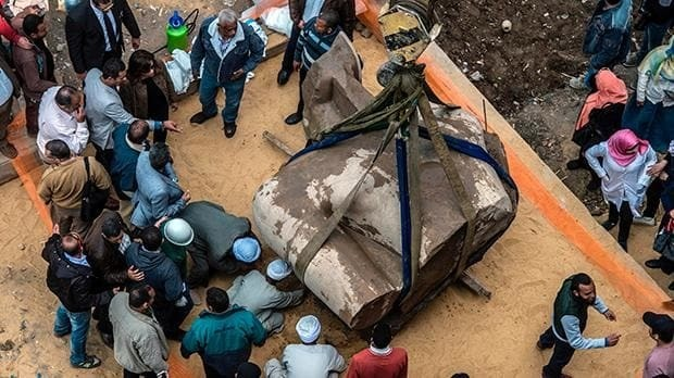 Archaeologists hail 'big discovery' in Egypt as statue 'depicting Ramses II' unearthed