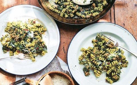 Fusilli with sausage and cavolo nero recipe