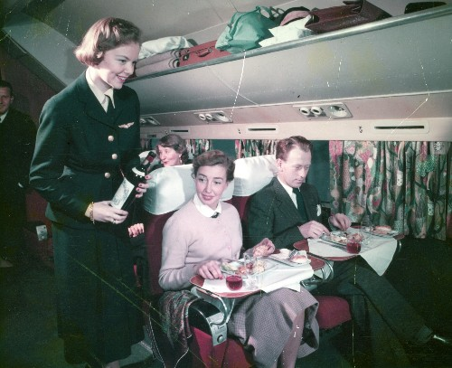 In pictures: The golden age of plane food