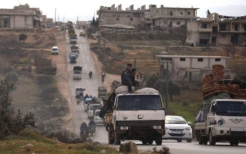 Syrian regime air strikes 'target civilian cars trying to flee fighting' in rebel-held Idlib